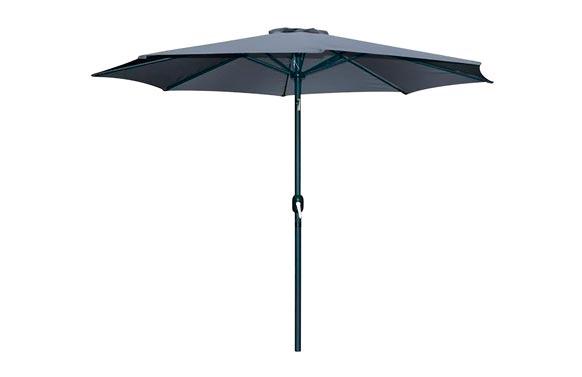 Parasol aluminio inclinable antracita 300 cm tubo 48 mm con manivela
