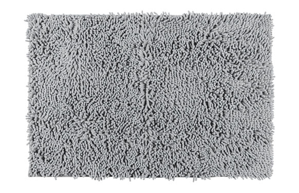 Alfombra baño chenille gris claro 50 x 80 cm