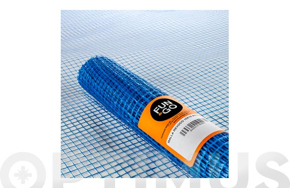 Malla revocos fibra vidrio (rollo 10 m) 10x10/100 cm azul