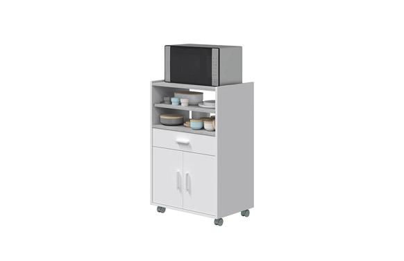 Mueble auxiliar microondas blanco 92 x 59 x 40 cm
