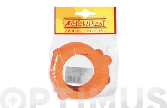 Goma naranja tarro hermetico fido 3mm 10 uds