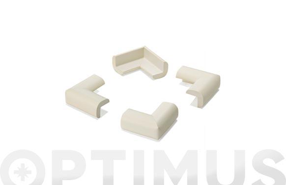 Protector de esquinas acolchado blanco 4 unidades