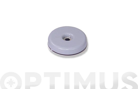 Deslizador para muebles adhesivo + tornillo gris ø 38 mm 4 uds