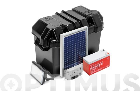 Kit solarlife con accesorios 20w-12v