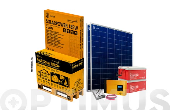 Kit solar zero mas 2000.2yls con bateria solarx