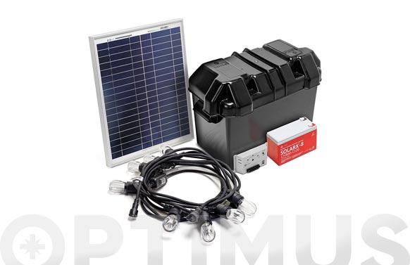 Kit solar iluminacion 8 bombillas panel 30 w