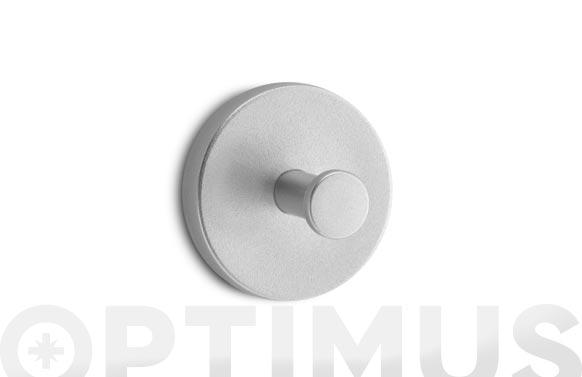 Colgador adhesivo circular 2 uds cromo mate
