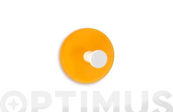 Colgador adhesivo circular 2 uds naranja