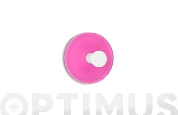 Colgador adhesivo circular 2 uds rosa