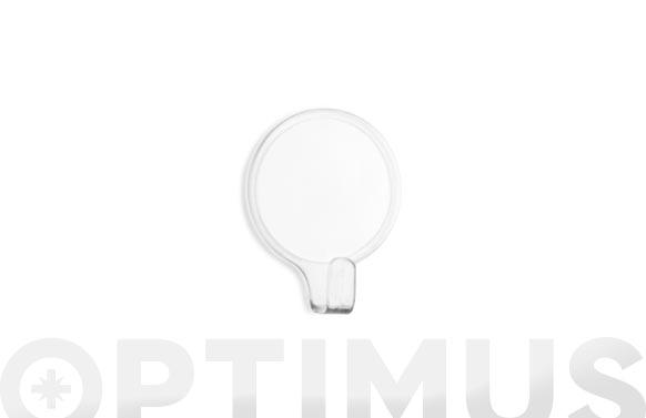 Colgador adhesivo circular 2 uds transparente