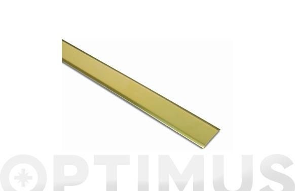 Tapajuntas adhesivo moqueta laton 35 mm x 100 cm