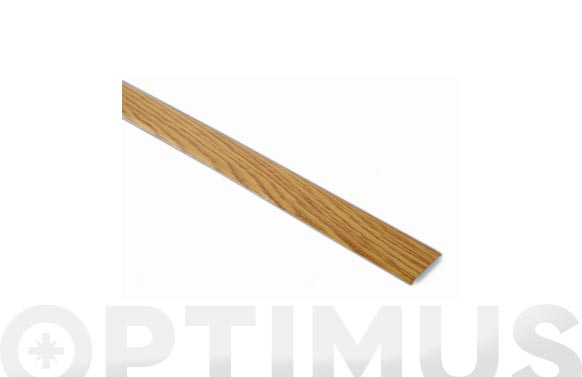 Tapajuntas adhesivo moqueta inox madera clara 35 mm x 100 cm