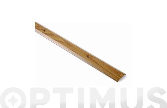 Tapajuntas con tornillos moqueta inox madera clara 35 mm x 100 cm
