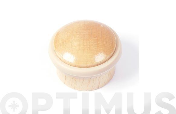 Tope de puerta adhesivo cilindrico ø 35 mm madera haya