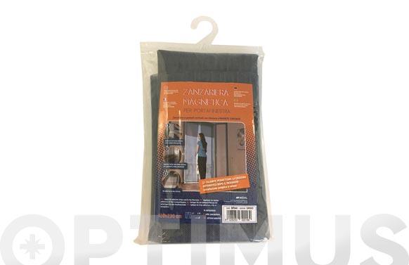 Mosquitera magnetica para puerta gris 120 x 230 cm