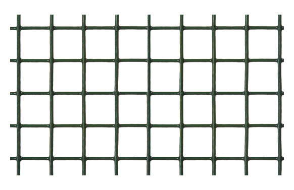 Malla electrosoldada galvanizada 19x19 mm verde 5 x 1 m