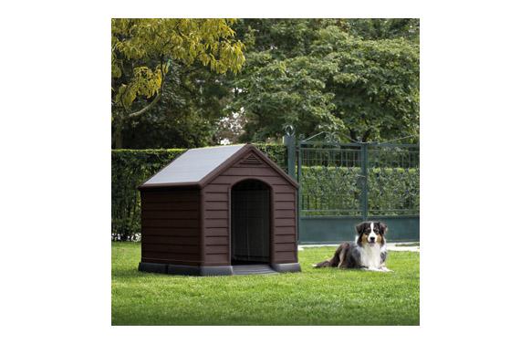 Caseta resina para perro grande 95 x 99 x 99 cm