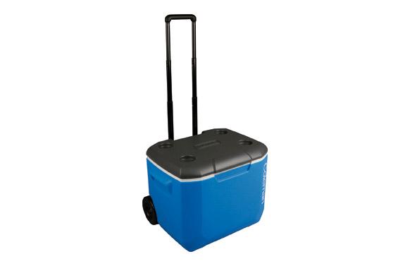 Nevera rigida con ruedas 60qt black & blue 56 l