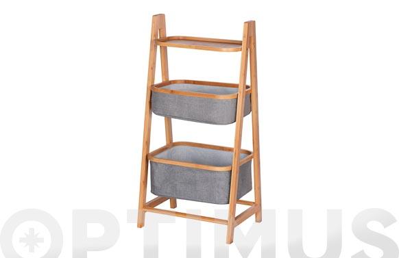 Estanteria con 2 cestas bahari 44 x 91 x 34 cm