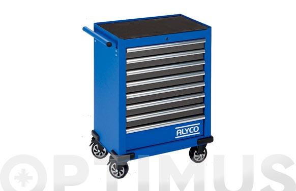 Carro herramientas metalico 8 cajones azul