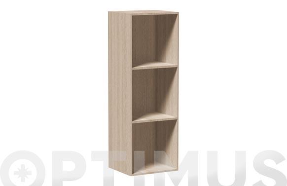 Estanteria 3 alturas natural h 104 x 35,5 x 34 cm