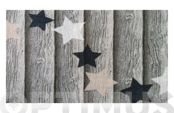 Felpudo poliamida estrellas 40 x 70 cm