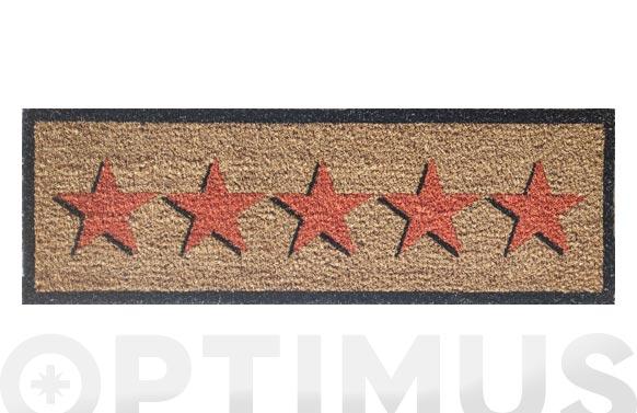 Felpudo coco estampado estrellas 25 x 75 cm
