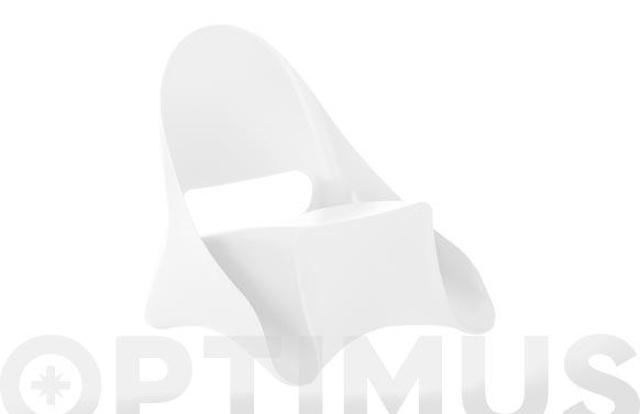Sillon resina lounge ondule blanco