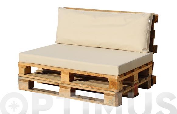 Cojin asiento para palet crudo 120 x 80 x 10 cm