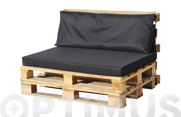 Cojin asiento para palet negro 120 x 80 x 10 cm