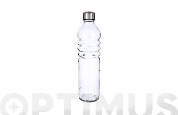 Botella vidrio relieve transparente 1.25 l