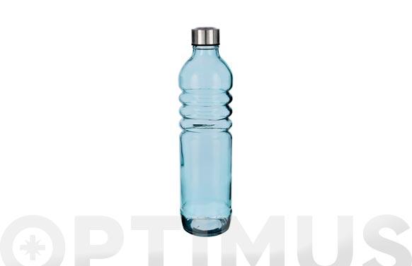 Botella vidrio relieve azul 1.25 l