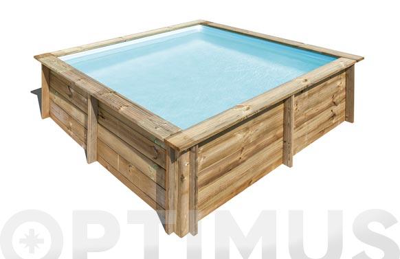 Piscina cuadrada madera sunway 225 x 225 x 68 cm