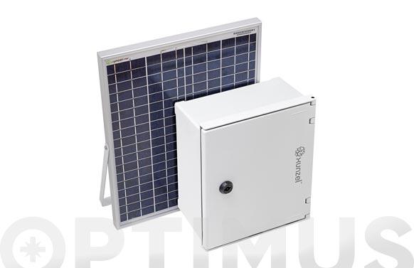 Kit solarlife-pro-aut con accesorios 30 w-24 v 2 baterias solarx-14 ah
