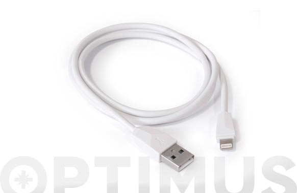 Cable de conexion usb-lighting iph blanco 1m