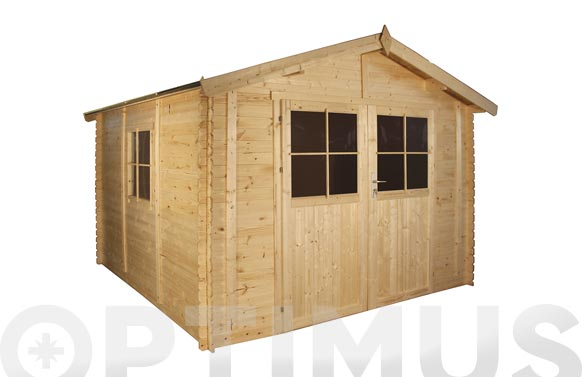 Cobertizo de madera petrov medidas 300 x 300 x 253 cm