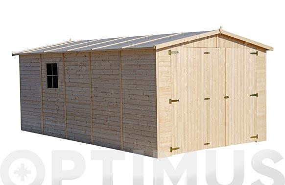 Garaje de madera 15 m2 mikhail medidas 500 x 300 x 222/192 cm