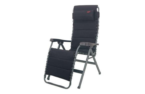 Sillon relax reforzado aluminio air deluxe acolchado negro