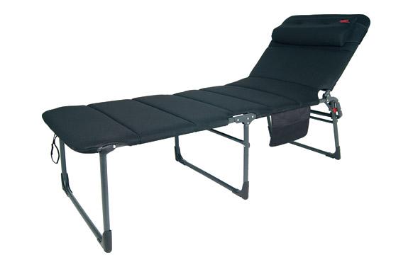 Cama extraancha reforzada aluminio air deluxe acolchado negro