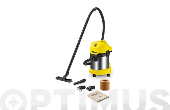Aspirador solidos liquidos inox wd3 premium 17 l 1000/1400 w + accesorios