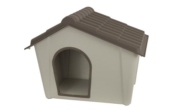 Caseta para perro de polipropileno grande 97,8 x 77,8 x 74,3 cm
