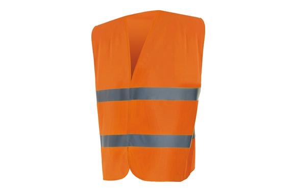 Chaleco alta visibilidad naranja-m/l