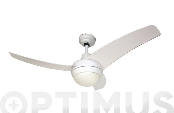 Ventilador de techo 3 aspas con luz y mando blanco 55w ø105 cm