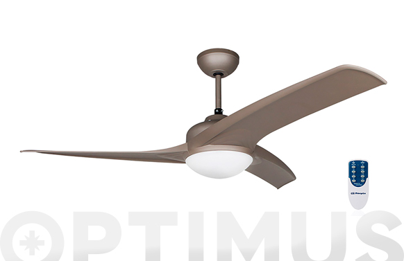 Ventilador de techo 3 aspas 132cm 55w 3velocidad silencioso