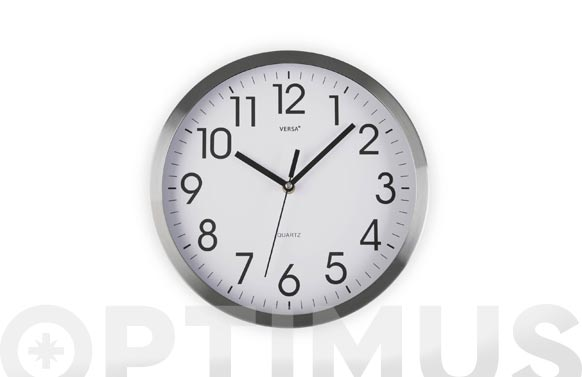 Reloj pared redondo ø25 cm - aluminio