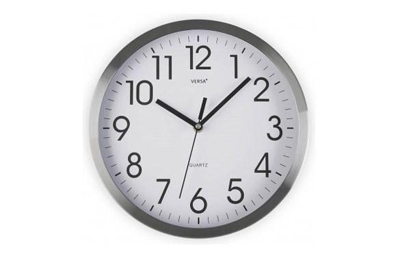 Reloj pared redondo ø30,5 cm - aluminio