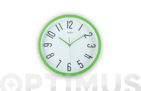 Reloj pared redondo ø30 cm - verde
