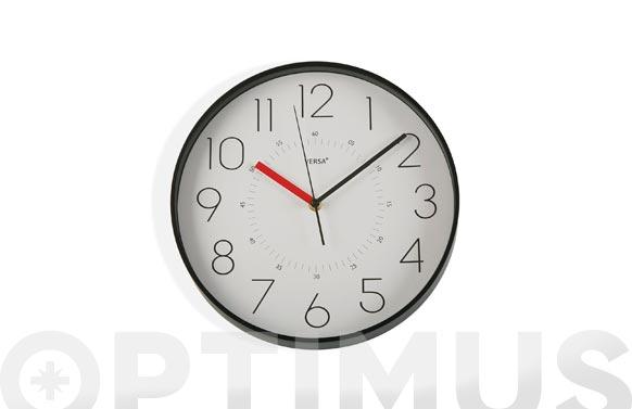 Reloj pared redondo ø31,5 cm - negro