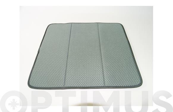 Tapete escurridor microfibra gris - 41 x 46 cm
