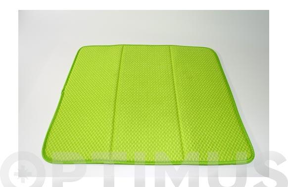 Tapete escurridor microfibra verde - 41 x 46 cm